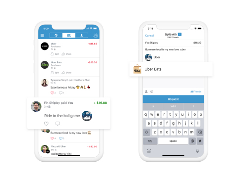 Uber and Venmo Partner to Deliver a New Payment Experience (Graphic: Business Wire)