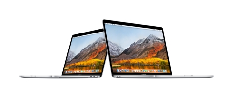 The new 13-inch and 15-inch MacBook Pro models with Touch Bar deliver more power to pro users. (Phot ...