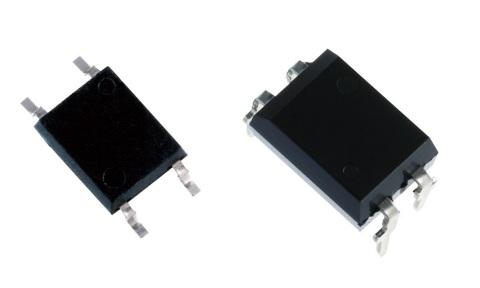 東芝:4pin SO6(左)およびDIP4(右)パッケージ (写真:ビジネスワイヤ)