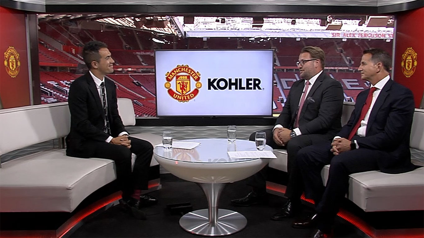 Manchester United's Group MD, Richard Arnold and Kohler CEO, David Kohler discuss their shirt sleeve partnership, the first of its kind for the club