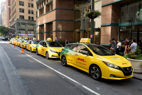 A fleet of 13 Nissan Leafs is available for the eShuttle service until Friday. New Yorkers can get f ...