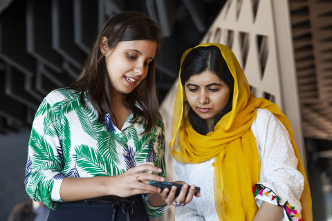 Malala Yousafzai visits the Apple Developer Academy in Rio de Janeiro on Friday, meeting with students who are learning to build apps. (Photo: Business Wire)