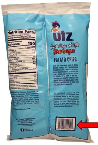 Bag Back (Source: Utz Quality Foods, LLC.)