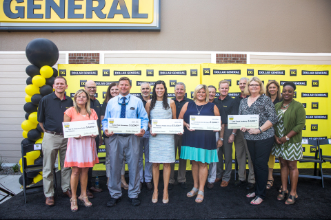 Wilmington, North Carolina community schools receive $3,000 each as part of Dollar General's grand opening celebration. (Photo: Business Wire)