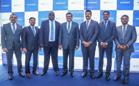 Promoth Manghat, Executive Director of Finablr, with Allen Semboze, Regional Head of Unimoni Africa, and other Country Heads of Africa region (Photo: AETOSWire)