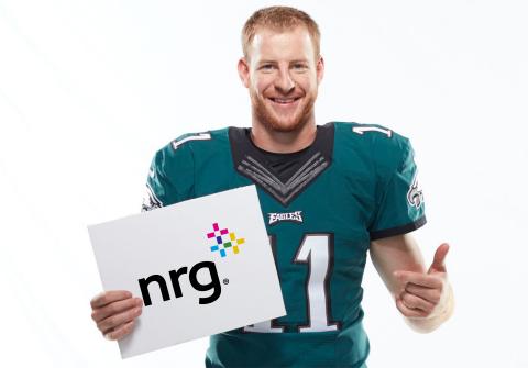 Eagles quarterback Carson Wentz renews partnership with energy supply company, NRG. (Photo: Business ...