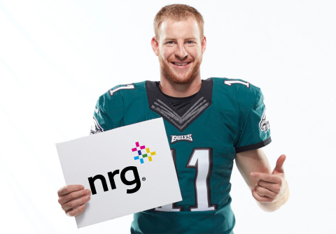 Eagles quarterback Carson Wentz renews partnership with energy supply company, NRG. (Photo: Business Wire)