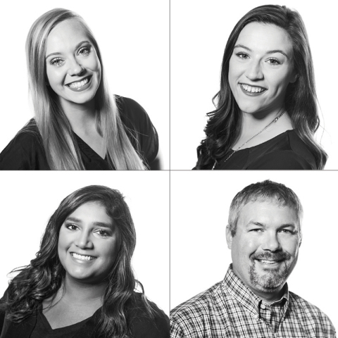 Clockwise from top left: Greta Larson, Chloe Holton, Ryan Van Der Meide, Alicia Verchota (Photo: Business Wire)