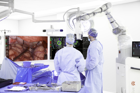 Synaptive Medical's Modus V™, a digital robotic microscope, is the cornerstone of the company's automated robotic and imaging technology and sets a new standard for visual accuracy during surgery. The device also advances minimally invasive cranial and spine procedures. (Photo: Business Wire)