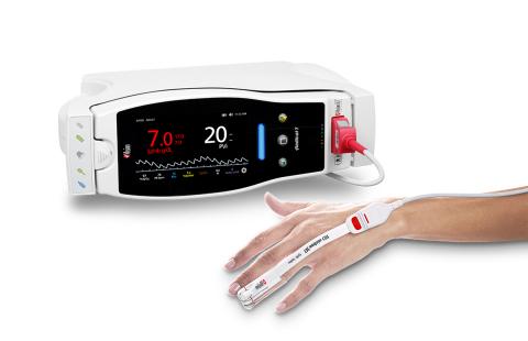 PVi®、SpHb®、RD rainbow SET™センサーを搭載したMasimo Radical-7®(写真:ビジネスワイヤ)