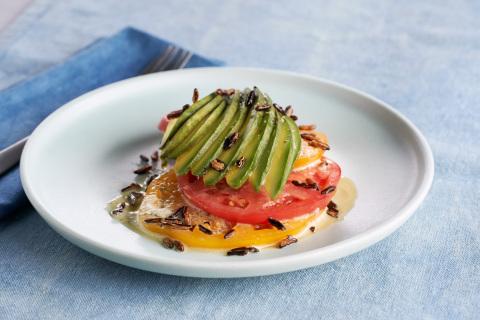 California Avocado and Heirloom Tomato Tartare, recipe created by Chef Phillip Frankland Lee of Scra ...