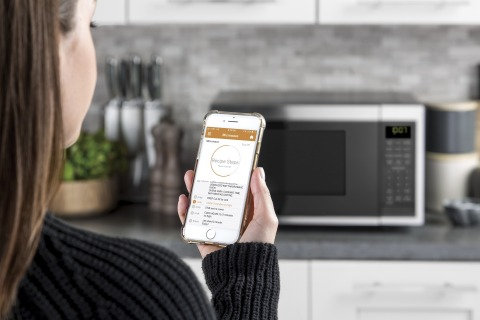 GE Appliances is launching its new GE Smart Countertop Microwave with Scan-to-Cook Technology. (Photo: GE Appliances, a Haier company)