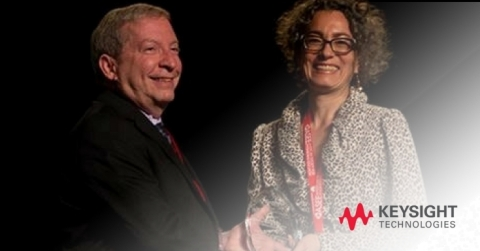 Howard R. Appelman, Associate Technical Fellow and Chair of the ASEE Corporate Members Council, Boeing; Erica Messinger, Keysight Technologies. (Photo: Business Wire)