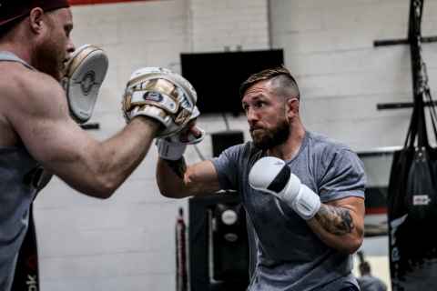 Lance Palmer Prepares for PFL4 Fight Night at Open Workout  (Photo: Business Wire)