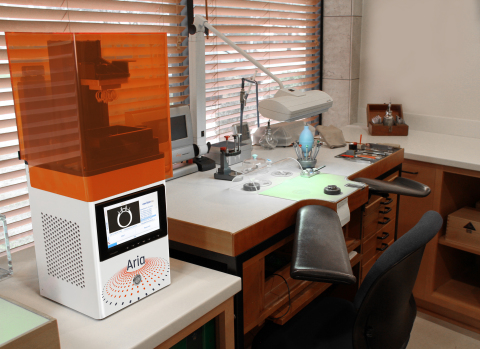 Priced at $5,999, the EnvisionTEC Aria 3D printer is a high-quality Digital Light Processing (DLP) printer that delivers best-in-class surface finish and accuracy. The printer is available for direct purchase at www.envisiontec.com/aria. (Photo: Business Wire)