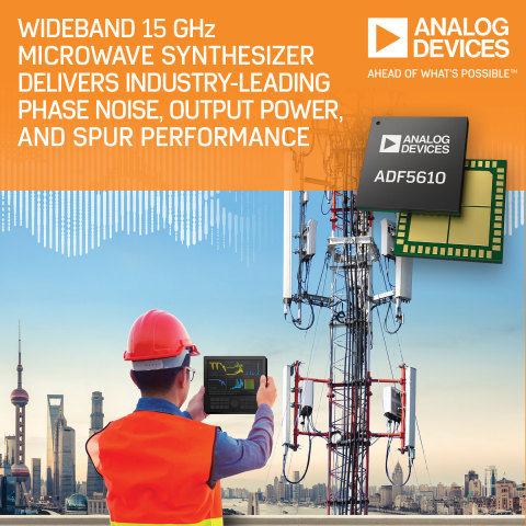 Wideband Microwave Synthesizer Delivers Industry Leading Phase Noise, Output Power and Spur Performance with Operation from 55 MHz to 15 GHz (Photo: Business Wire)