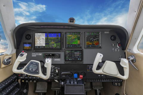 Bonanza equipped with TXi flight displays, the G5 electronic flight instrument and the GFC 600 autopilot. (Photo: Business Wire)