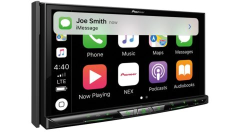 Pictured is Pioneer's AVH-W8400NEX in-dash infotainment receiver which uses Cypress' automotive Wi-Fi and Bluetooth combo solution to enable smartphone mirroring. (Photo: Business Wire)