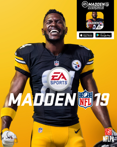 Antonio Brown Named as Official EA SPORTS Madden NFL 19 Cover Athlete, Worldwide Launch August 10th (Graphic: Business Wire)