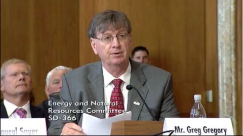Materion's Greg Gregory testifies before U.S. Senate's Committee on Energy & Natural Resources (Photo: Business Wire)