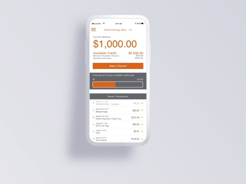 Mock-up of Today Card app (Photo: Business Wire)