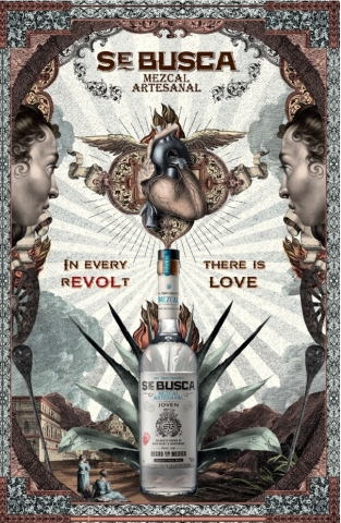 Se Busca Mezcal hits shelves today with Joven, Reposado and Anejo expressions. The products' artwork ...