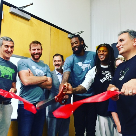 Beyond Meat unveils their new state-of-the-art Innovation Center with a ribbon cutting ceremony. Att ...