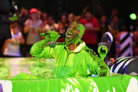 Nickelodeon's Kids' Choice Sports 2018 Host Chris Paul 'slimed' at Barker Hangar on July 19, 2018 in Santa Monica, California. (Photo by Emma McIntyre/VMN18/Getty Images For Nickelodeon)