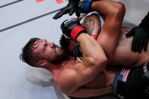 Lance Palmer submits Juma Tuerxun at PFL4 on the road to the PFL 2018 Playoffs (Photo: Business Wire)