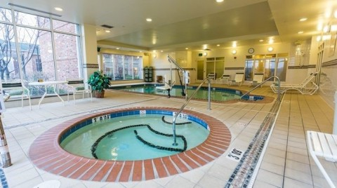 The hotel has an indoor pool and a whirlpool. (Photo: Business Wire)