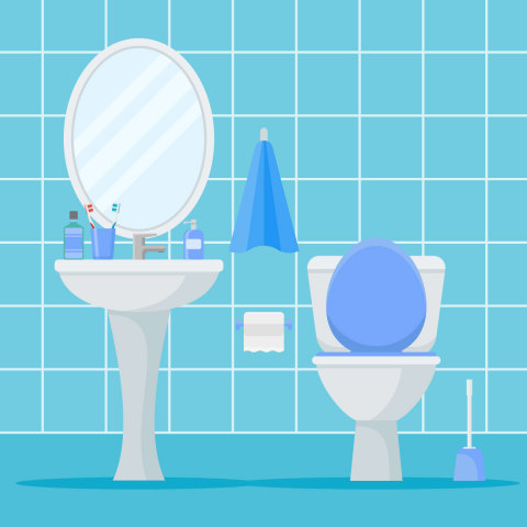 ACI's latest National Cleaning Survey shows the toilet as the number one target of cleaning in American homes. (Graphic: Business Wire)