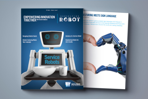 Mouser Electronics announces the release of a new e-book titled Service Robots, the most recent offering in the Generation Robot series, part of Mouser's Empowering Innovation Together program. (Photo: Business Wire)