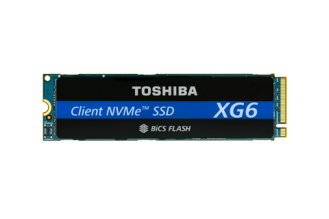 Toshiba Memory's new XG6 series of SSDs is the first to use 96-layer BiCS FLASH 3D flash memory. (Photo: Business Wire)