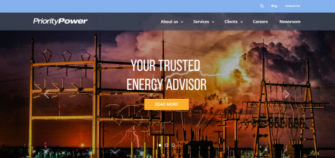 Priority Power Management launches new website (Graphic: Business Wire)