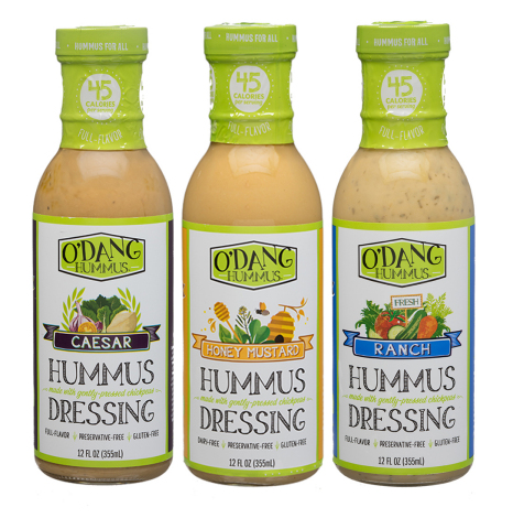 O'DANG Hummus dressings Ranch, Caesar and Honey Mustard now available at Roundy's. (Photo: Business Wire)