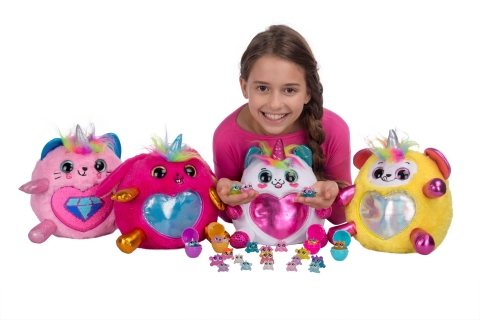 Toy and consumer products company ZURU, announced the launch of Rainbocorns, a new line of adorable collectible plush 'born' in a mystery egg and featuring a rainbow of exciting elements, from reversible sequins to hair play to enchanted creatures. An animated web series will launch in September on YouTube. (Photo: Business Wire)