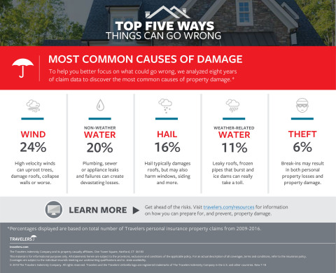 The Most Common Causes of Damage  (Graphic: Business Wire)
