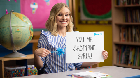 Old Navy's Cause Platform ONward! Teams Up with Kristen Bell to Rock Your First Day of School (Photo: Business Wire)