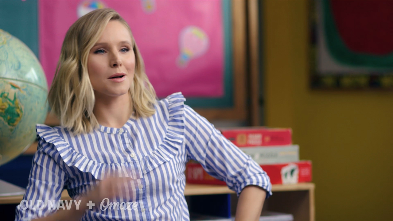 Old Navy's Cause Platform ONward! Teams Up with Kristen Bell to Rock Your First Day of School
