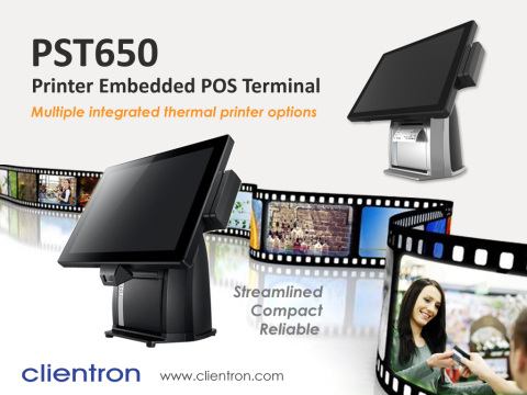 Clientron introduces PST650 POS terminal with built-in the choice of major brand thermal printers to ...