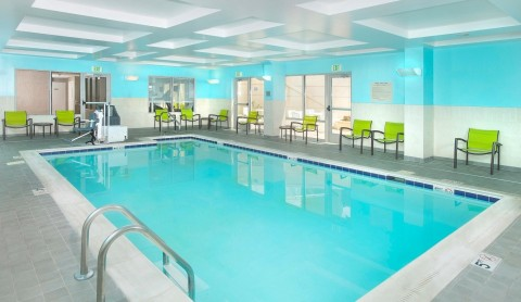 A heated indoor mineral pool beckons swimmers. (Photo: Business Wire)