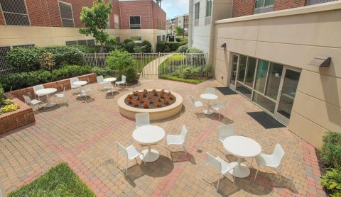 The outdoor patio is large enough for family reunions. (Photo: Business Wire)
