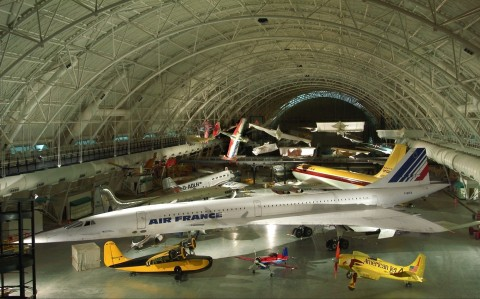 Air France's Concorde is on display at the Smithsonian's Udvar-Hazy Center. (Photo: Business Wire)