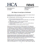 HCA Reports Second Quarter 2018 Results