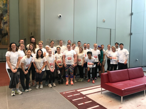 Wolf Greenfield attorneys and staff getting ready to participate in the 2018 Lawyers Have Heart 5K, an annual fundraising event held in Boston, for the American Heart Association. (Photo: Business Wire)