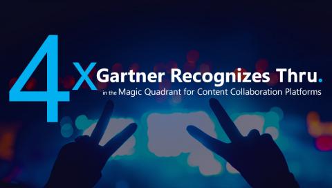 4X Gartner Recognizes Thru in the 2018 Magic Quadrant for Content Collaboration Platforms (Photo: Business Wire)