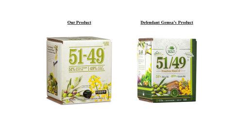 Corto Olive Sues Gemsa Enterprises for Infringing 51-49® Trademark (Photo: Business Wire)