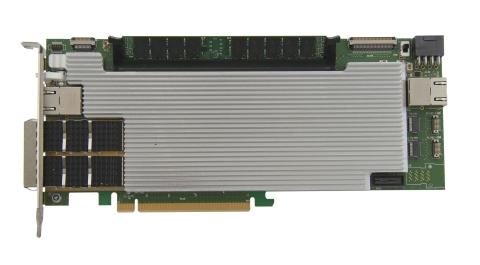 XpressGXS10-FH200G board with its custom 1 slot PCIe passive heat sink (Paris: REFLEX CES)
