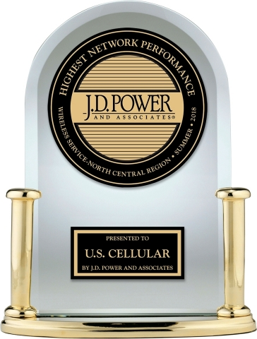 For the fifth time in a row, U.S. Cellular is the top ranked wireless carrier in the North Central Region in J.D. Power's Wireless Network Quality Performance Study. (Photo: Business Wire)