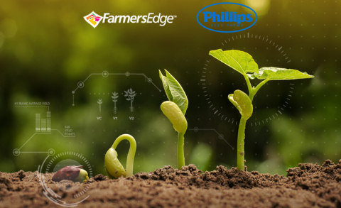 Farmers Edge and Phillips Seed Farms Inc. collaborate to offer innovative seed technology and digital agronomic tools to help growers maximize productivity and profitability. (Photo: Business Wire)